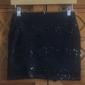 Forever 21 Mini sequined stretch skirt